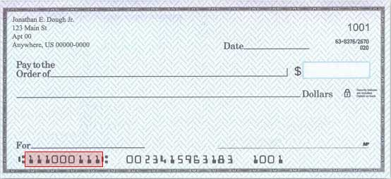 The routing number can be found in the lower left-hand section.